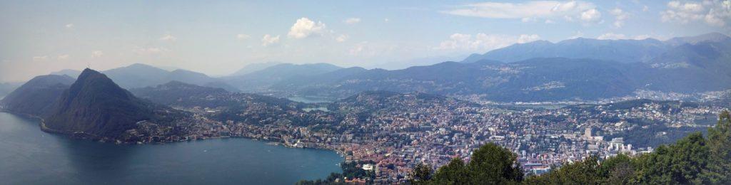 Panorama di Lugano dal Monte Brè